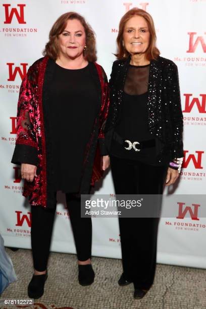Kathleen Turner and Gloria Steinem attend the Ms. Foundation for Women 2017 Gloria Awards Gala & After Party at Capitale on May 3, 2017 in New York...