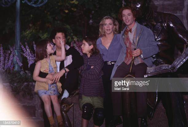 """Kathleen Turner and Martin Short during Kathleen Turner, Martin Short and Steve Martin filming """"A Simple Wish"""" - October 17, 1996 at Central Park in..."""