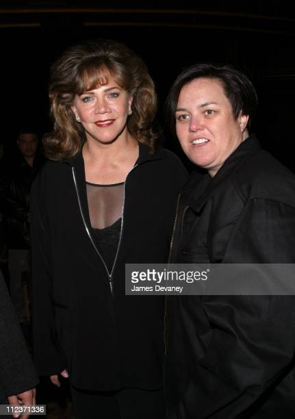 Kathleen Turner and Rosie O'Donnell during 'Nothing Like a Dame 2003' Concert Benefit at St James Theatre in New York City New York United States