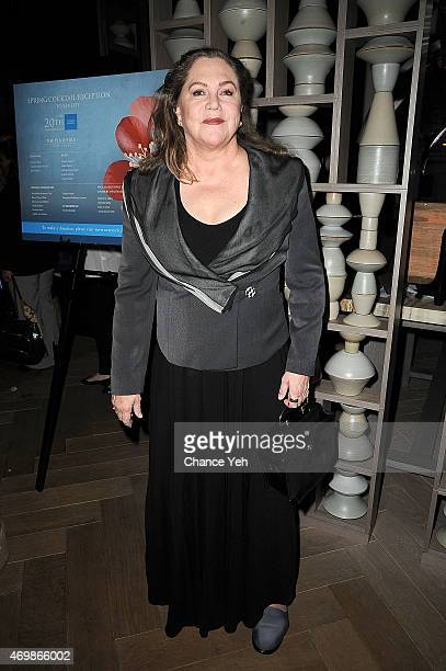 Kathleen Turner attends The New York Center For Children 20th Anniversary Spring Cocktail Reception at Clement Restaurant at the Peninsula Hotel on...