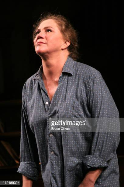 Kathleen Turner during curtain call during Opening Night of Edward Albee's revival of Who's Afraid of Virginia Woolf on Broadway at The Longacre...