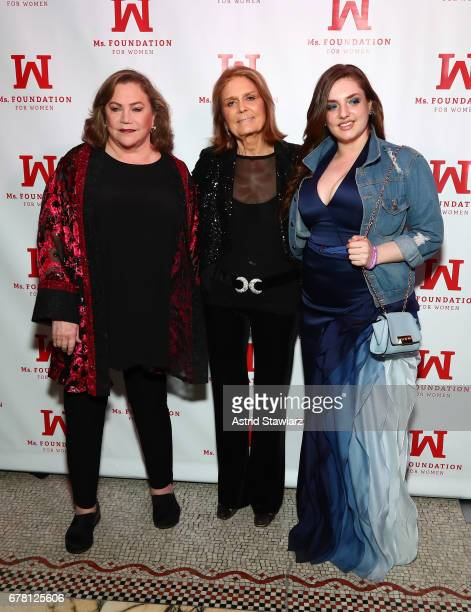 Kathleen Turner Gloria Steinem and Rachel Ann Weiss attend the Ms Foundation for Women 2017 Gloria Awards Gala After Party at Capitale on May 3 2017...