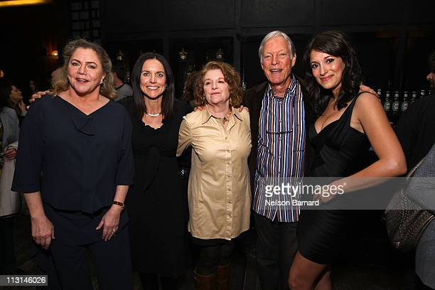 Kathleen Turner producer Anne Renton actors Rebecca Wackler Richard Chamberlain and Angelique Cabral attend The Perfect Family's premiere afterparty...