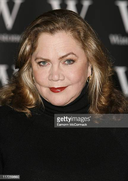 Kathleen Turner signs her new autobiography Send Yourself Roses My Life Love and Leading Roles at Waterstone's Piccadilly on March 7 2008 in London...
