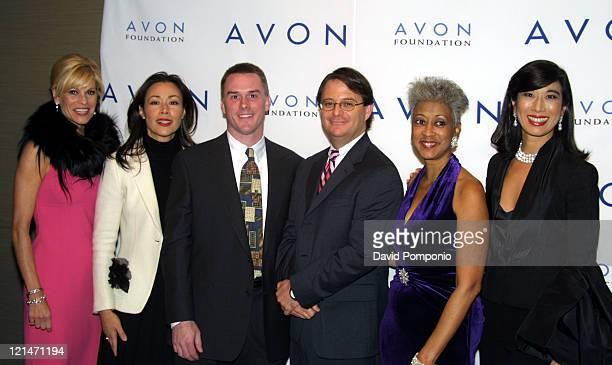 Kathleen Walas Avon Foundation President Ann Curry Media Leadership Honoree Paul Boulanger Community Advocacy Honoree guest Dottie Randall Pink...
