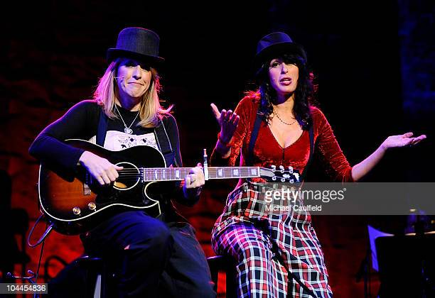 Kathleen Wilhoite and Maggie Wheeler perform during the 8th annual What A Pair to benefit the John Wayne Cancer Institute at The Broad Stage on...