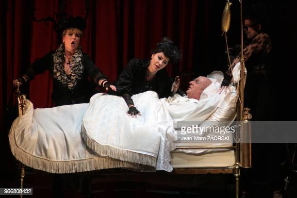 Kathleen Wilkinson Agnes Selma Weiland Natasha Petrinsky around Werner van Mechelen in a in a view of Gianni Schicchi Third part of Il Trittico the...