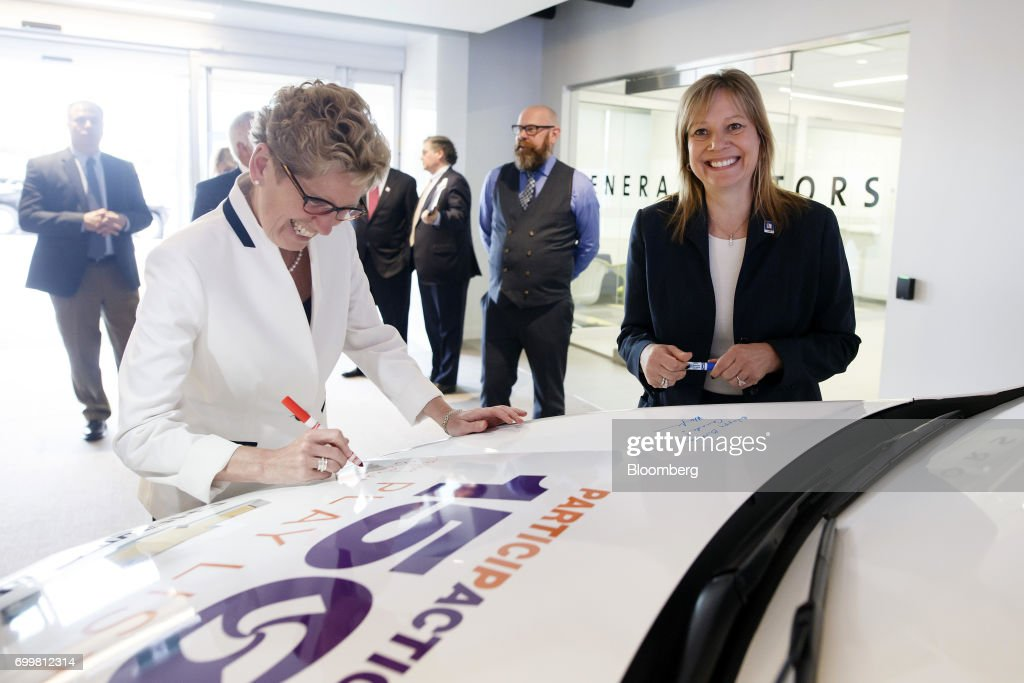 Image result for photos of mary barra trump trudeau