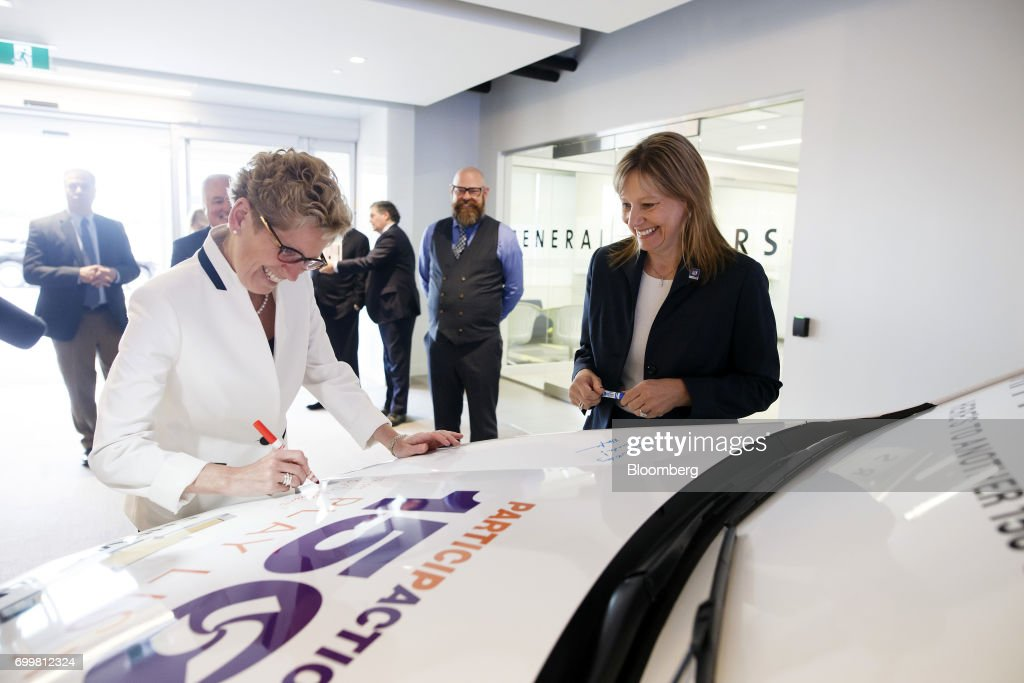 Canadian Prime Minister Justin Trudeau Meets With General Motors CEO Mary Barra