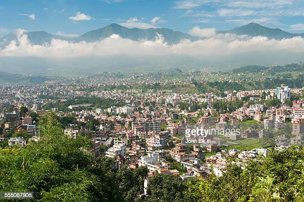 kathmandu, city view - nepal stock pictures, royalty-free photos & images