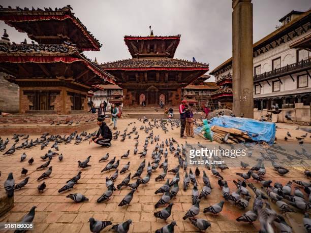 kathmandu durbar square, kathmandu, nepal march 10, 2017 - kathmandu stock pictures, royalty-free photos & images