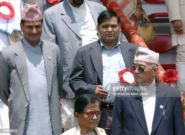 Nepalese Labour Minister Ramesha Lekhak Communication Minister Krishna Bahadur Mahara Foreign Minister Sahana Pradhan and Law Minister Narendra...