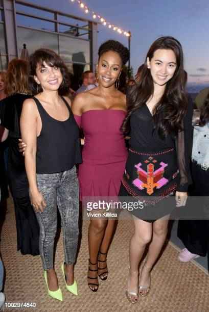 Kathreen Khavari Simone Missick and Jessica Henwick attend Entertainment Weekly and Marvel Television host an After Dark Party at San Diego ComicCon...