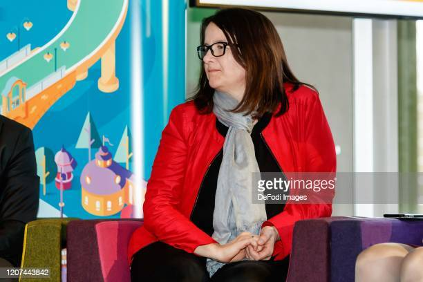Kathrin Abele looks on during the press conference UEFA EURO 2020 100 days to go at Olympiahalle on March 3 2020 in Munich Germany