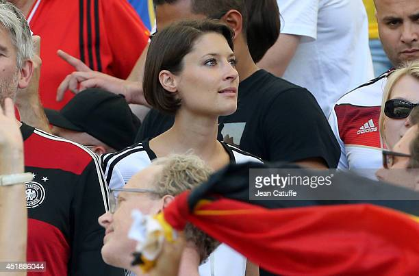 Kathrin Gilch girlfriend of goalkeeper of Germany Manuel Neuer attends the 2014 FIFA World Cup Brazil Quarter Final match between France and Germany...