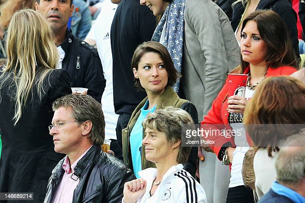 Kathrin Glich girlfriend of Manuel Neuer of Germany during the UEFA EURO 2012 quarter final match between Germany and Greece at The Municipal Stadium...