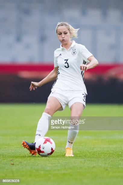 Kathrin Hendrich of Germany controls the ball during the 2019 FIFA Women's World Championship Qualifier match between Germany and Faroe Islands at...