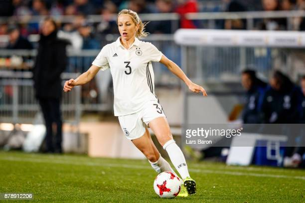 Kathrin Hendrich of Germany runs with the ball during the Germany v France Women's International Friendly match at Schueco Arena on November 24 2017...