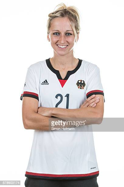 Kathrin Hendrich poses during Germany Women's Team Presentation on July 19 2016 in Paderborn Germany