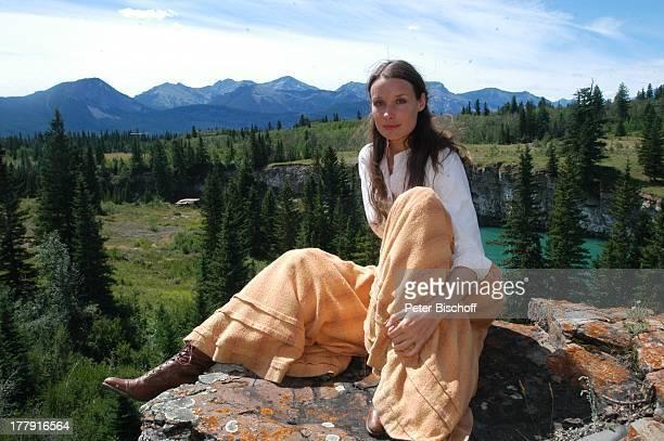 """Kathrin Kühnel, ZDF-Reihe """"Im Tal der wilden Rosen"""", Folge 13: """"Die Macht der Liebe"""" - alter Titel: """"Blinde Liebe"""", Kanaksis bei Calgary, Kanada,..."""