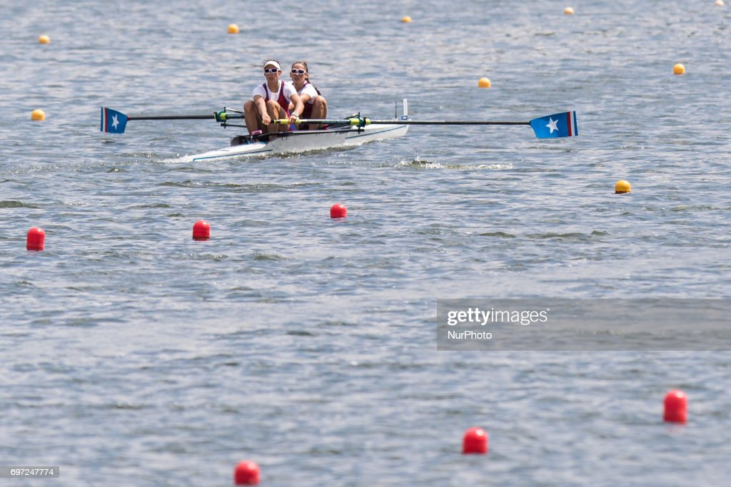 Kathrin Roach, Sophia Vitas (USA) W2- during the first day of the 2017 World Rowing World Cup in Poznan, Poland, on 16 June 2017.