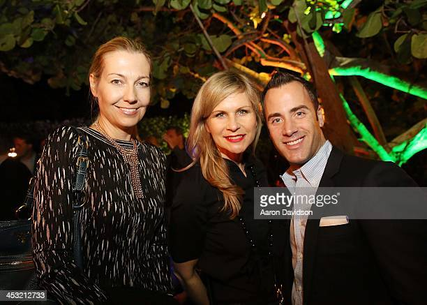Kathrin Speidel Anja Kaehny and Andrew Lipman Design Miami VIP Event at W South Beach Hotel Residences on December 2 2013 in Miami Beach Florida