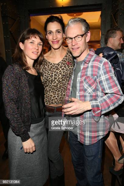 Kathrin von Steinburg Steffen Wink and his wife Genoveva Mayer during the NdF after work press cocktail at Parkcafe on March 14 2018 in Munich Germany