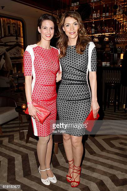 Kathrin Wrobel and Annett Moeller attend the Victress Awards Gala on 2016 in Berlin Germany