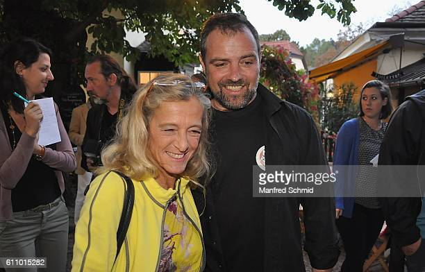 Kathrin Zechner and Juergen Maurer arrive to a photocall for the 3rd season of the tv show 'Vorstadtweiber' on September 28 2016 in Vienna Austria