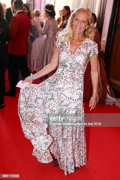 Kathrin Zechner attends the LIFE Solidarity Gala prior to the Life Ball at City Hall on June 2 2018 in Vienna Austria The Life Ball an annual charity...