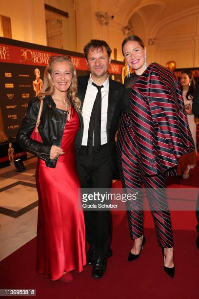 Kathrin Zechner Philipp Hochmair and Patricia Aulitzky during the ROMY award at Hofburg Vienna on April 13 2019 in Vienna Austria