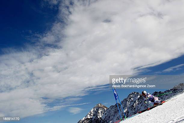 Kathrin Zettel of Austria takes 2nd place during the Audi FIS Alpine Ski World Cup Women's Giant Slalom on October 26 2013 in Soelden Austria