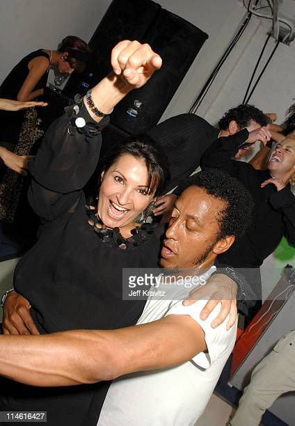 Kathrine Narducci and Andre Royo during Entourage Third Season Premiere in Los Angeles After Party in Los Angeles California United States