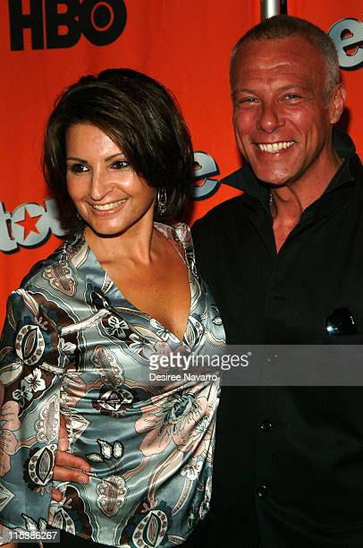 Kathrine Narducci and Gary Spencer during HBO's Entourage Season 2 New York City Premiere Arrivals at The Tent at Lincoln Center in New York City New...