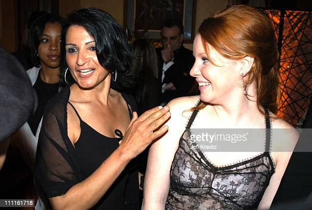 Kathrine Narducci and Lauren Ambrose during HBO Screen Actors Guild Party at Spago in Beverly Hills CA United States