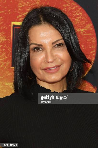 Kathrine Narducci attends the New York premiere of Hellboy at AMC Lincoln Square Theater on April 9 2019 in New York City