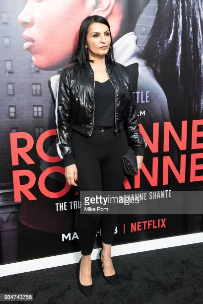 Kathrine Narducci attends the Roxanne Roxanne New York Premiere at SVA Theater on March 19 2018 in New York City