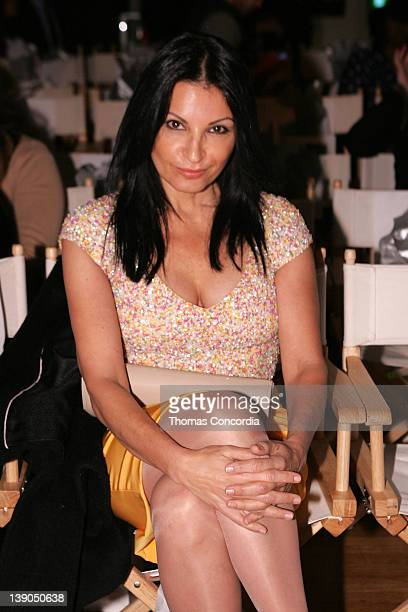 Kathrine Narducci attends the STYLE360 presentation of Theia Fall 2012 Collection at the Metropolitan Pavilion South on February 15 2012 in New York...