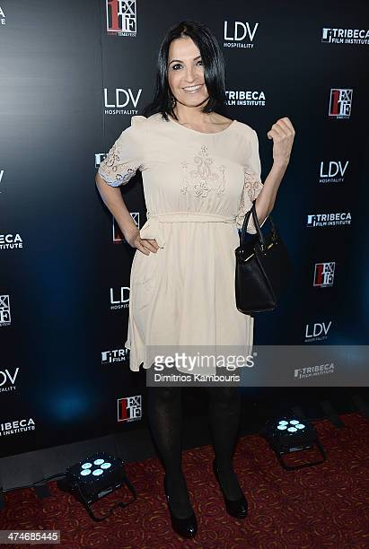 Kathrine Narducci attends Tribeca Film Istitute's 20th Anniversary Benefit Screening Of A Bronx Tale at Village East Cinema on February 24 2014 in...