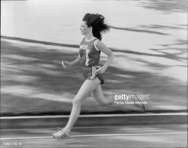Kathrine Switzer an American woman marathon runner in Sydney April 6 1983