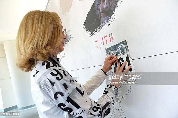 Kathrine Switzer attends REEBOK #HonorYourDays Luncheon at Reebok Headquarters on April 28 2016 in Canton Massachusetts