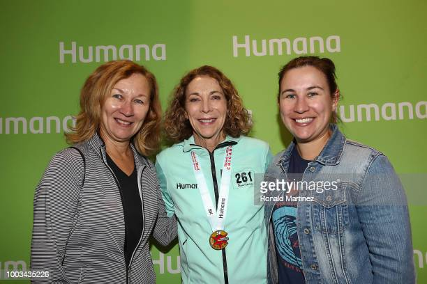 Kathrine Switzer poses for photos at the Health Fitness expo for the 2018 Humana Rock 'n' Roll Chicago marathon at McCormick Place on July 21 2018 in...