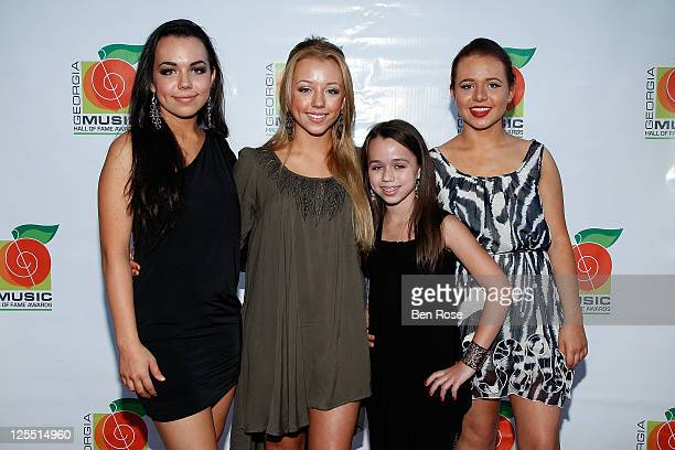Kathry von Grey Fiona von Grey Petra von Grey and Annika von Grey of von Grey attend the 33rd Annual Georgia Music Hall Of Fame Awards at the Cobb...