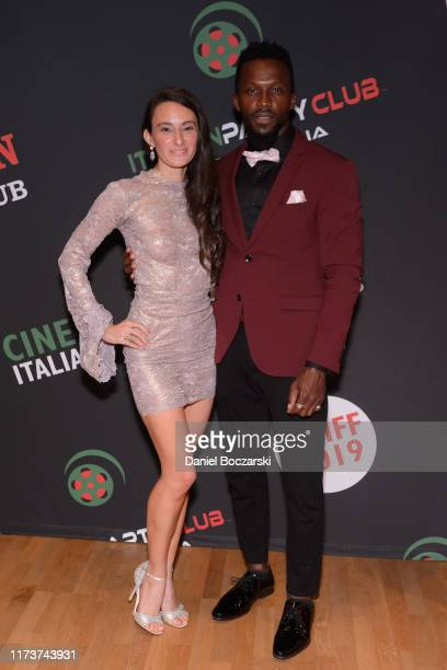 Kathryn Aboya and Emmanuel Kabongo attend the Italian Party Club at TIFF 2019 at Artscape Daniels on September 10 2019 in Toronto Canada