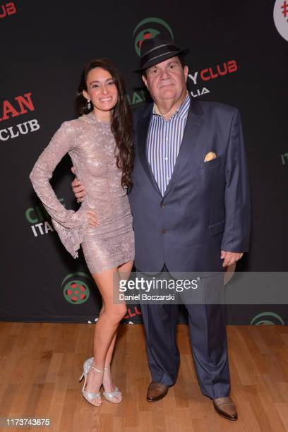 Kathryn Aboya and Gino Bravo attend the Italian Party Club at TIFF 2019 at Artscape Daniels on September 10 2019 in Toronto Canada