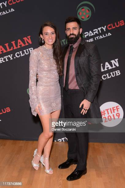 Kathryn Aboya and Nabil Dalle attend the Italian Party Club at TIFF 2019 at Artscape Daniels on September 10 2019 in Toronto Canada