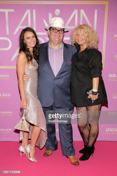 Kathryn Aboya Gino Bravo and Gigi B attend The Italian Party during 2018 Toronto International Film Festival celebrating Excelsis movie at Aqualina...