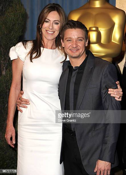 Kathryn Bigelow and Jeremy Renner attends the 82nd Academy Awards Nominee Luncheon at The Beverly Hilton hotel on February 15 2010 in Beverly Hills...