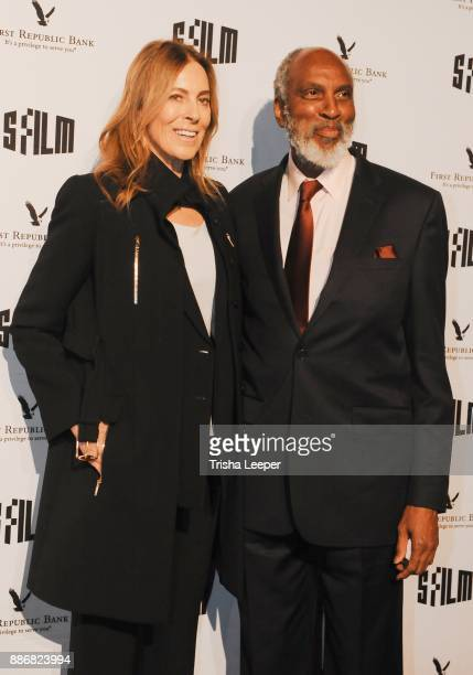 Kathryn Bigelow and John Powell attends SFFILM's 60th Anniversary Awards Night at Palace of Fine Arts Theatre on December 5 2017 in San Francisco...