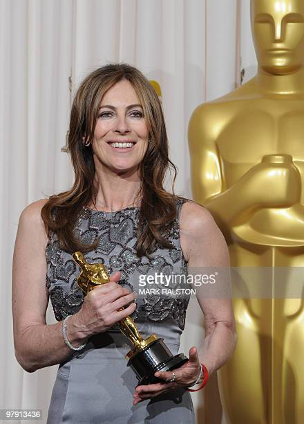 Kathryn Bigelow celebrates winning the best director Oscar during the 82nd Academy Awards at the Kodak Theater in Hollywood California on March 7...